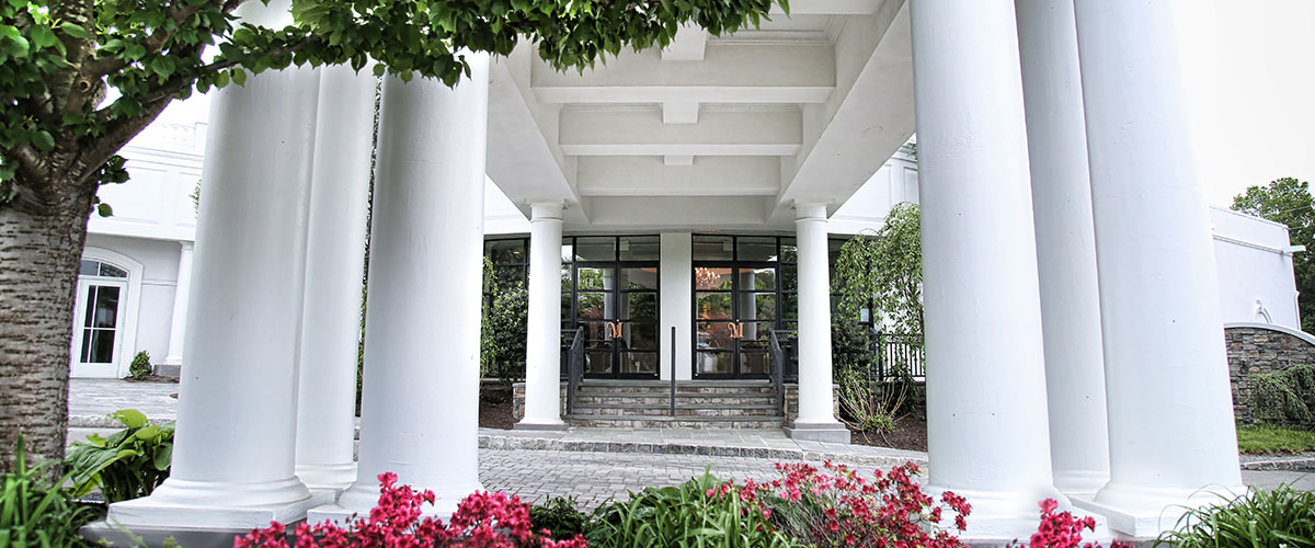 Elegant Mansion Entrance