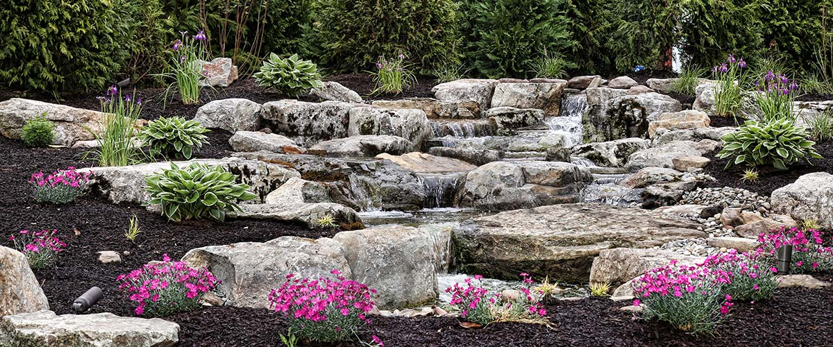 Outdoor Landscaping Water Feature Garden