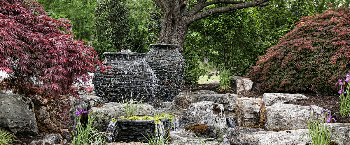 Outdoor Wedding Garden Fountain