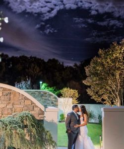 Beautiful Nj Outdoor Wedding Ceremony Venue Landscaped Night