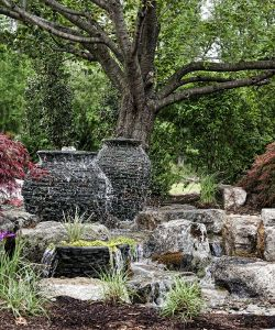 Beautiful Water Features At The Mansion