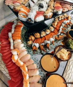 Catered Event Seafood Suchi Bar