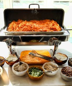 Cuisine Chafing Dish Sweet Potato Bar