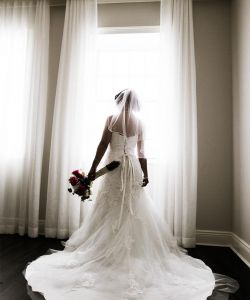 Elegant Bride In Bridal Suite