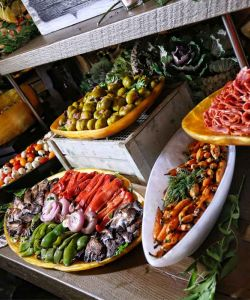 Fresh Gourmet Catered Cuisine Buffet For Event Party Wedding