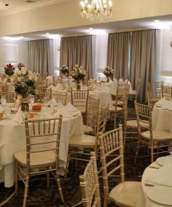 Grand Ballroom Wedding Reception Table Decor