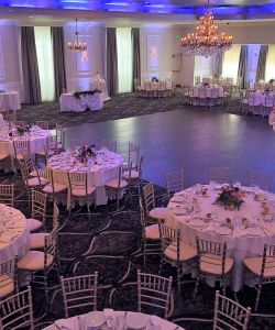 Grand Ballroom Wedding Reception Tables With Dance Floor