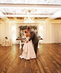 Groom Bride Kiss Belhall Grand Ballroom Wedding