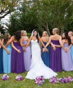 New Jersey Bride With Bridesmaids Water Garden