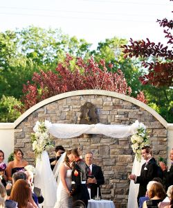 Outdoor Bride Groom Kiss Ceremony