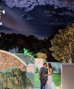 Outdoor Wedding Ceremony Garden At Night