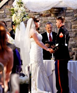 Outdoor Wedding Ceremony Stone Wall