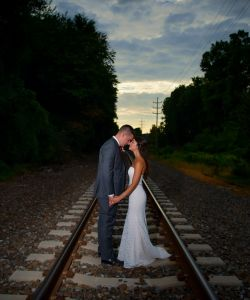 Railroad Tracks Bride Groom Nj Wedding Venue