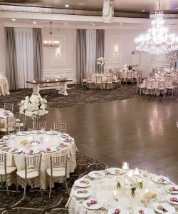 Romantic New Jersey Grand Ballroom Wedding Reception